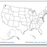 Printable United States Maps | Outline And Capitals With Blank Us State Map
