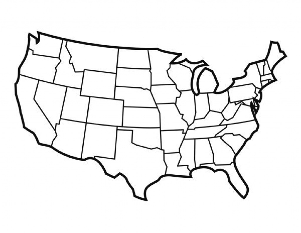 Printable United States Outline | 50 States Adventure | Pinterest throughout State Outline Map