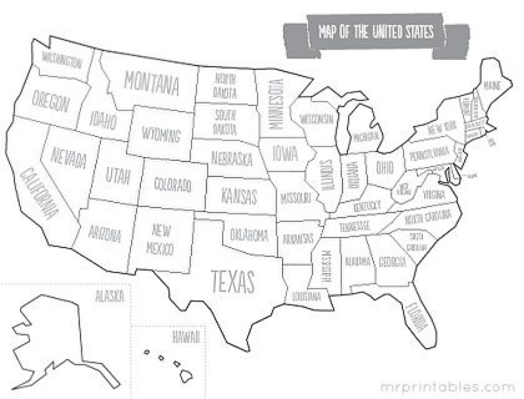 Printable Us Map For Kids | Homeschooling | Pinterest | Social within Printable Us Map With States