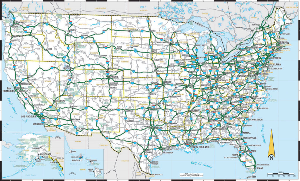 Printable Us Map Template | Usa Map With States | United States Maps for State Road Maps