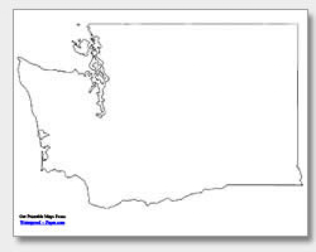 Printable Washington Maps | State Outline, County, Cities intended for Washington State Map Outline
