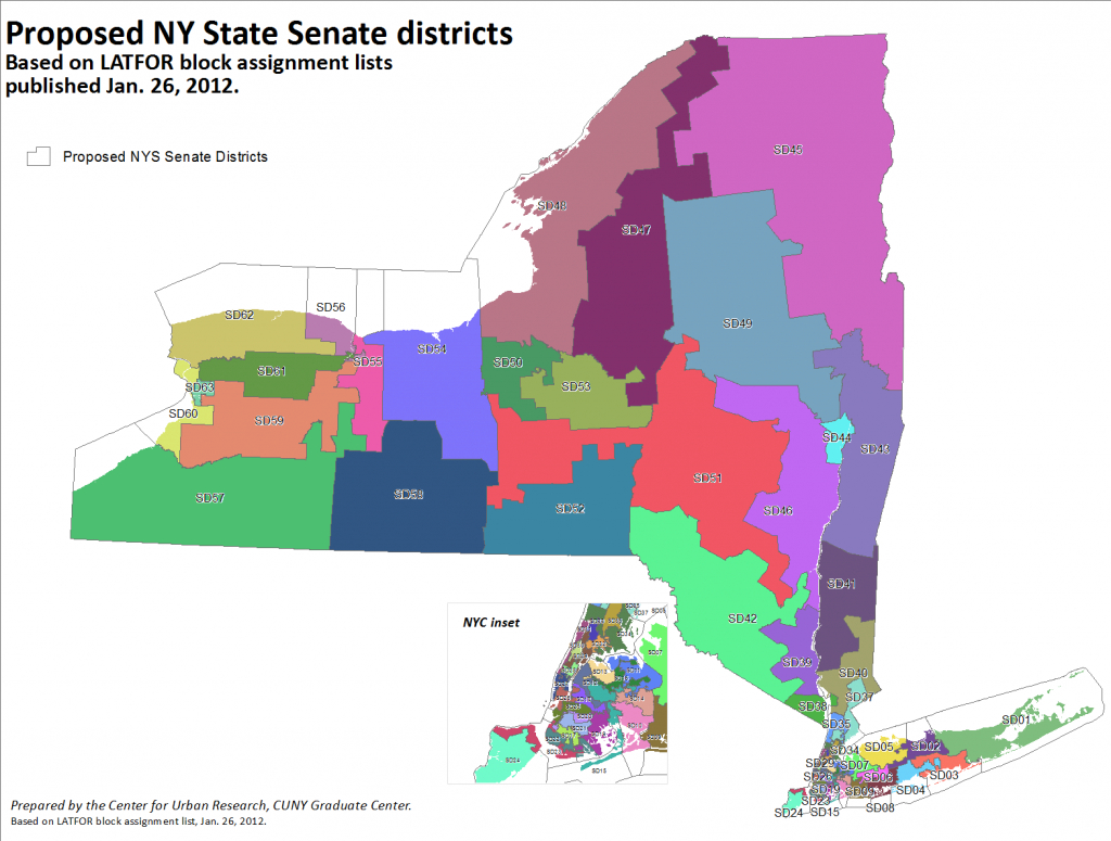 Proposed Nys Senate & Assembly Districts Available In Gis Format in New York State Senate District Map