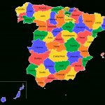 Provinces Of Spain   Wikipedia With Spain States Map