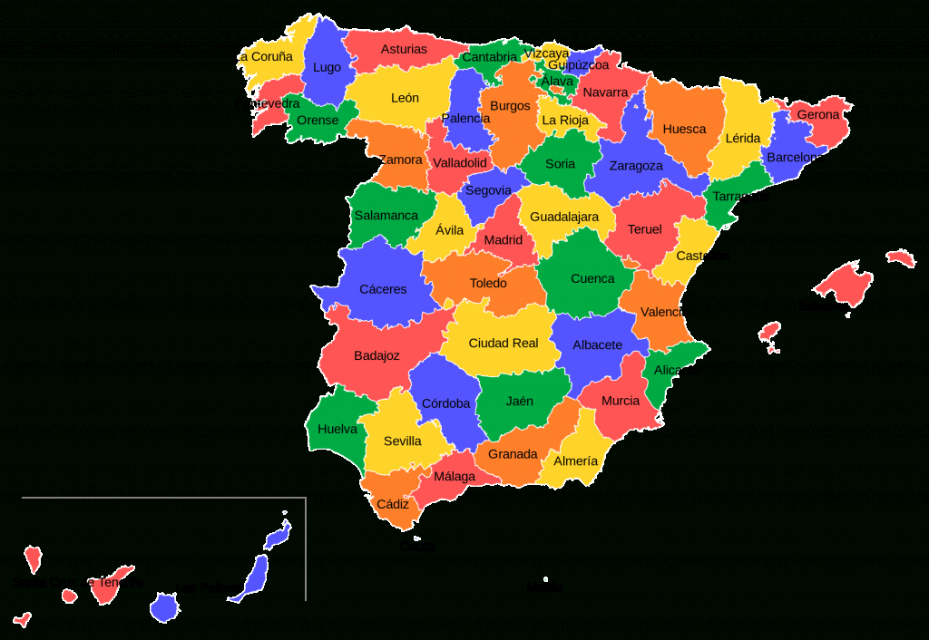 Provinces Of Spain - Wikipedia with Spain States Map