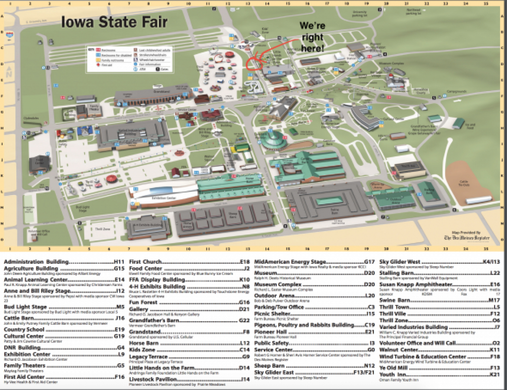 Pulse 101.7 Booth At The Iowa State Fair! with Iowa State Fair 2017 Map