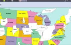 Puzzle Usa Map With 50 States. Learn All The Name Of Usa Federal in 50 States Map