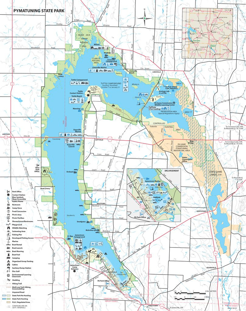 Pymatuning State Park - Maplets regarding Pymatuning State Park Campground Map