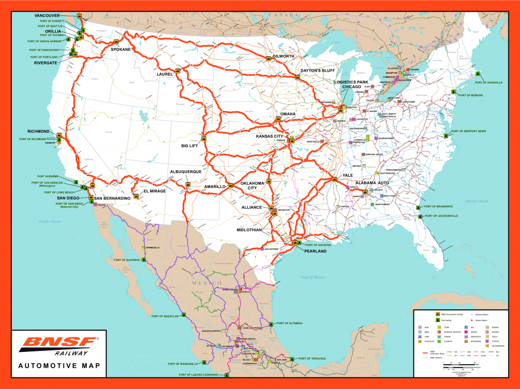 Rail Network Maps | Bnsf pertaining to Alabama State Railroad Map