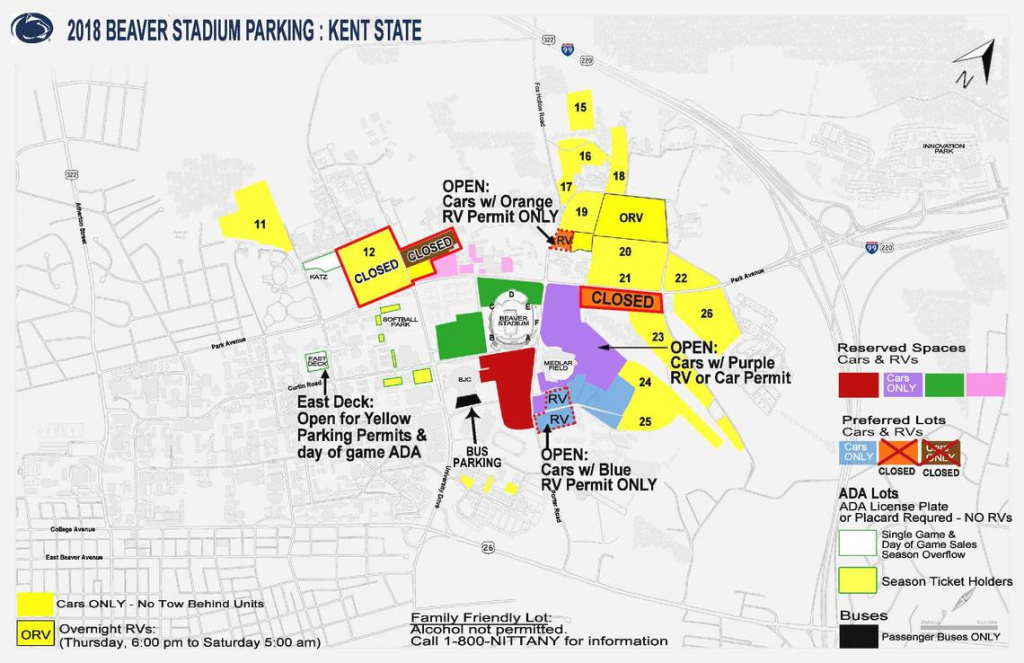 Rain Forces Stadium Parking Changes | Penn State Vs Kent State intended for Penn State Parking Lot Map