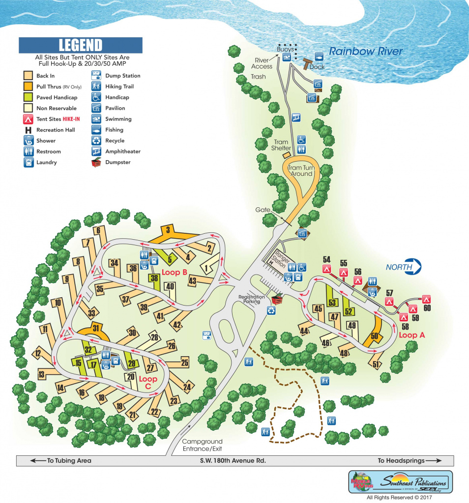 Rainbow Springs State Park In Dunnellon, Florida | Mobilerving intended for Rainbow Springs State Park Campground Map