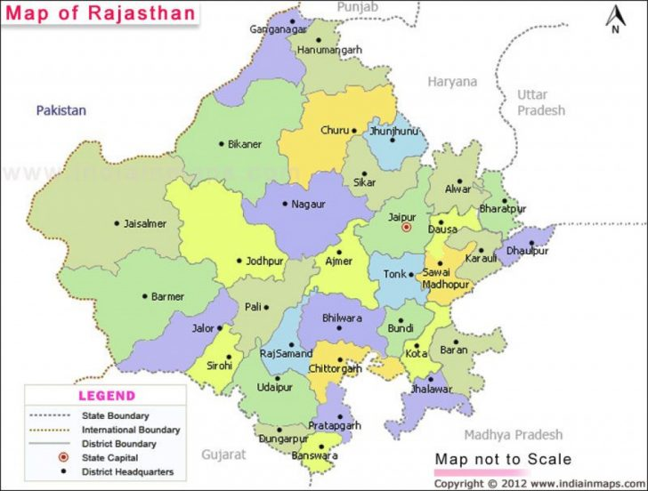 Political Map Of Rajasthan State