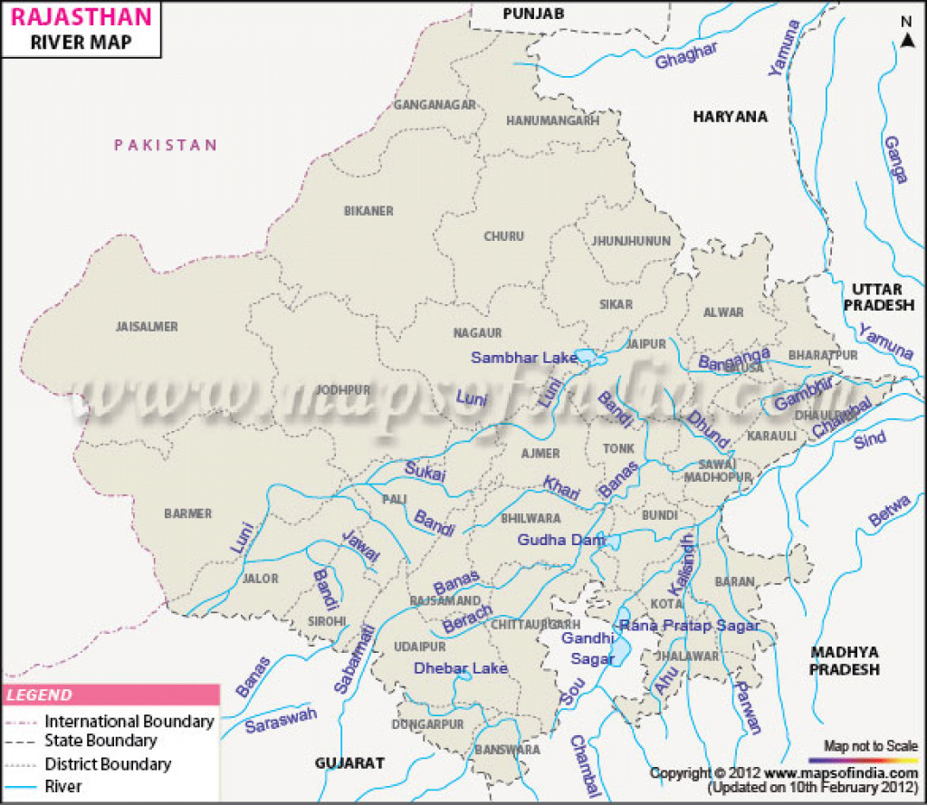 Rajasthan Rivers regarding Political Map Of Rajasthan State