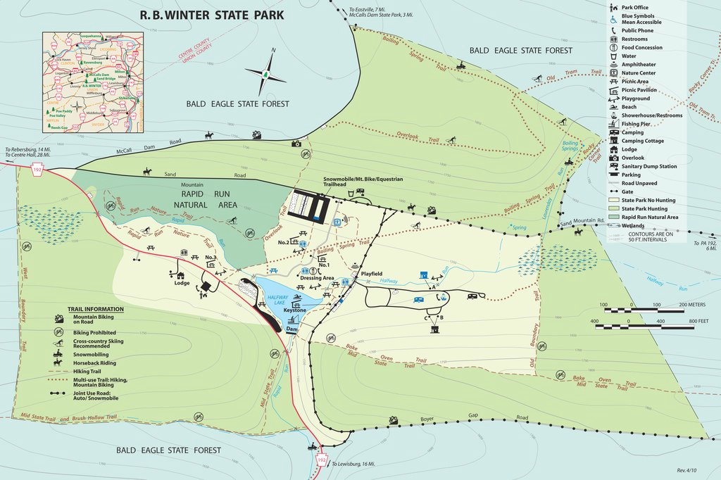Raymond B. Winter State Park - Maplets in Rb Winter State Park Trail Map