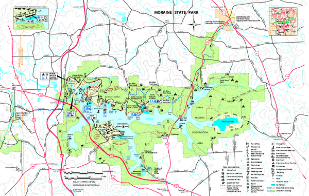Real Life Map Collection • Mappery for Kettle Moraine State Park Map
