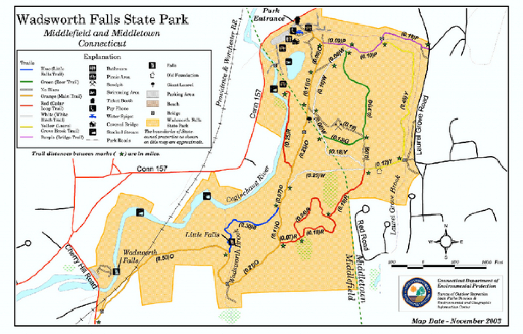 Real Life Map Collection • Mappery intended for Chatfield Hollow State Park Trail Map