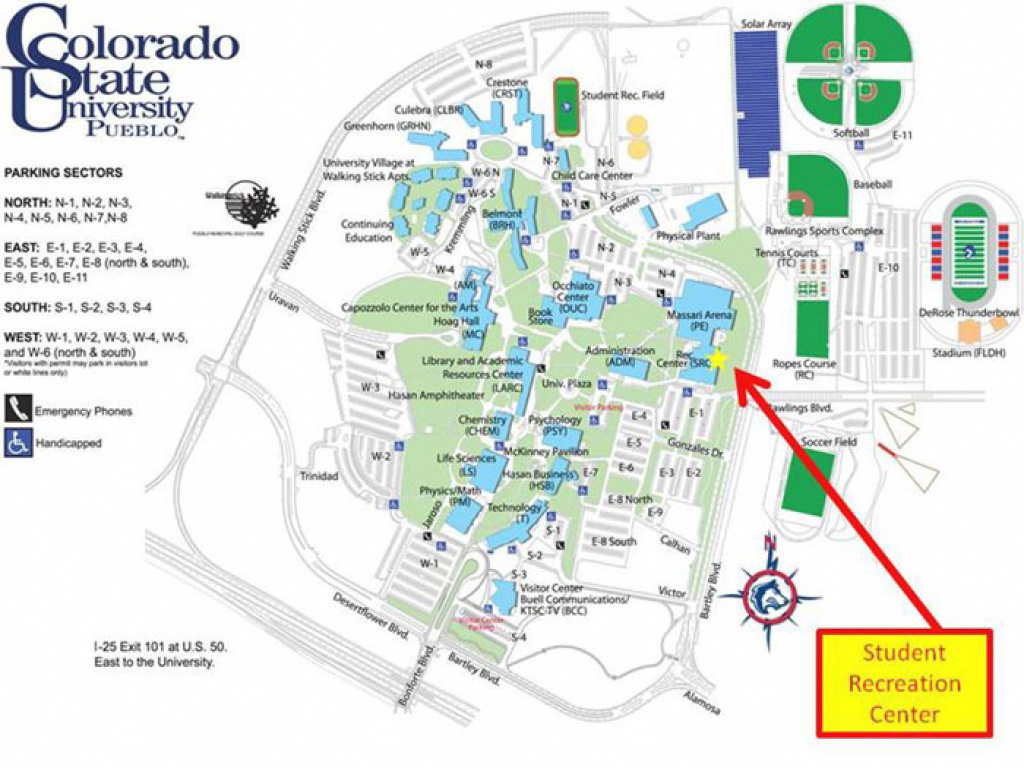 Rec Pack Summer Camp inside Colorado State University Campus Map