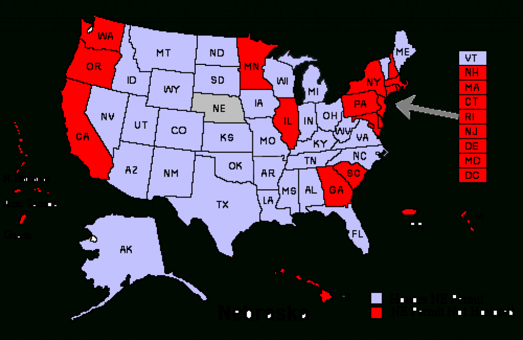 Reciprocity – Nebraska Shooters regarding Concealed Carry States Map 2016