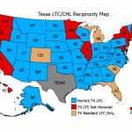 Reciprocity   Texas License To Carry/chl Inside Concealed Carry States Map 2016