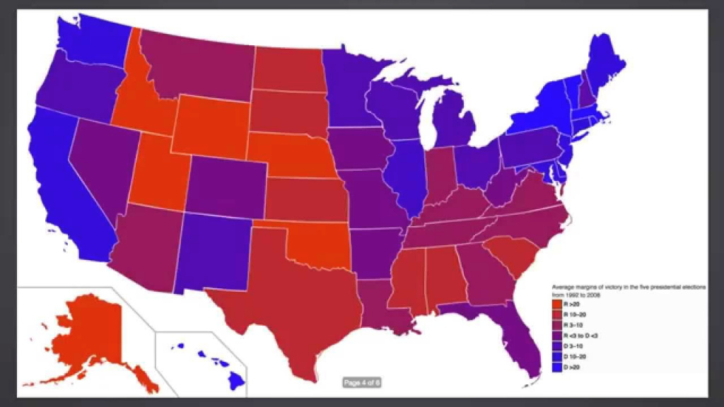Red State, Blue State, Is America Actually Purple - The Power Of within Red State Blue State Map