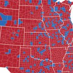 Red State, Blue State: The Social Network Vp Debate Divide Shown In In Red State Blue State Map