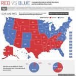 Red State Vs. Blue State Infographic   Political Maps Throughout Blue States Map