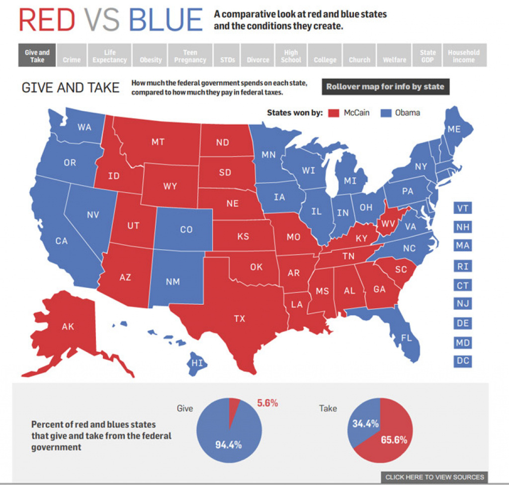 Red State Vs. Blue State Infographic | Political Maps throughout Blue States Map