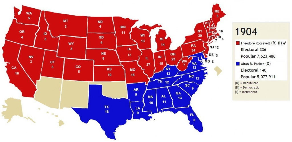 Red States And Blue States: It Was Not Always Thus – Jsphfrtz throughout Republican States Map