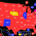Red States And Blue States   Wikipedia Inside Republican States Map