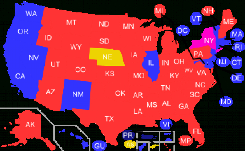 Red States And Blue States - Wikipedia inside Republican States Map