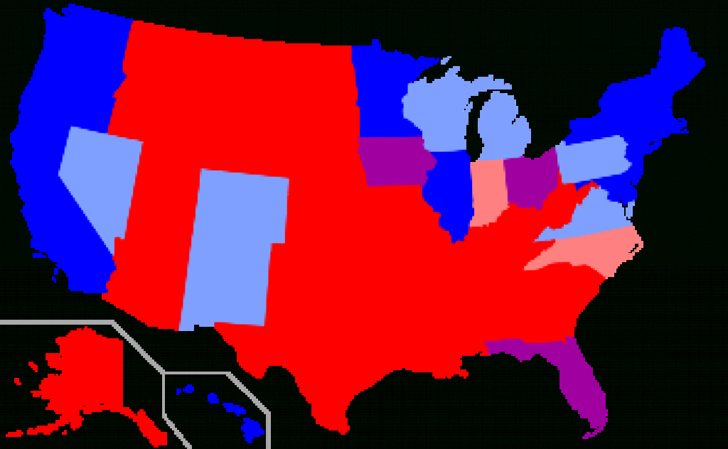 Red States And Blue States - Wikipedia pertaining to Red State Blue State Map
