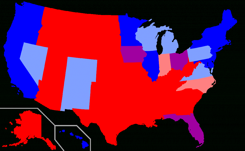 Red States And Blue States - Wikipedia throughout Republican States Map