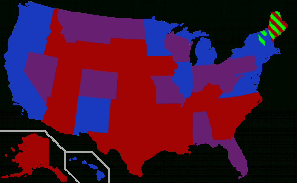 Red States And Blue States - Wikipedia with Red State Blue State Map