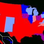 Red States And Blue States   Wikipedia Within Blue States Map