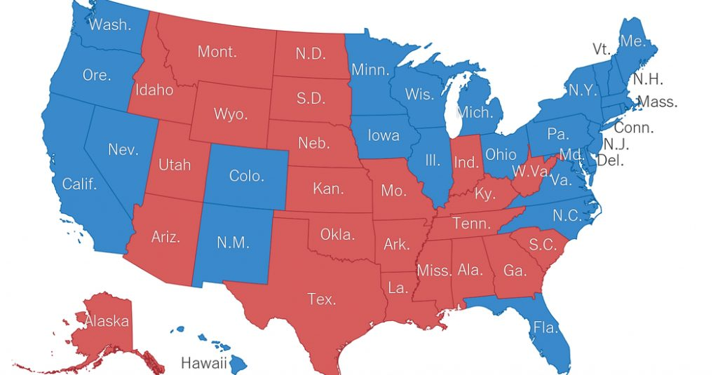 Red States, Blue States: 2016 Is Looking A Lot Like 2012 (And 2008 For Red State Blue State Map