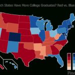 Red States Least Educated In The U.s. | Time Intended For Blue States Map