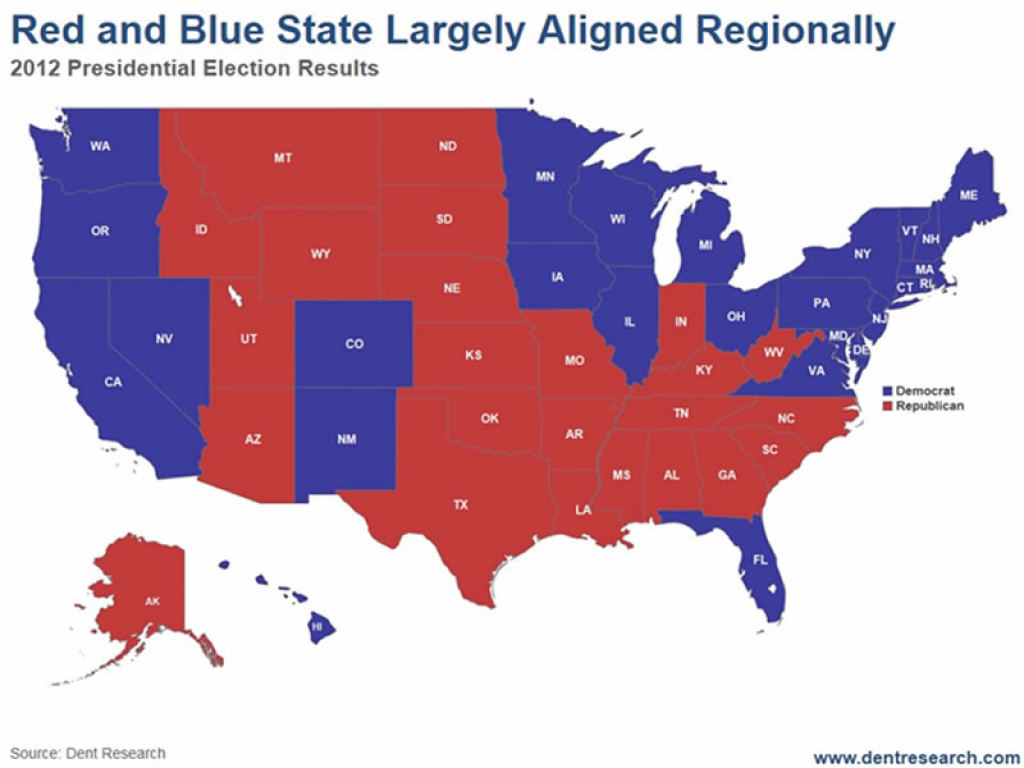 Red States Vs Blue States - What's Next: A Third And Potentially with regard to Blue States 2017 Map