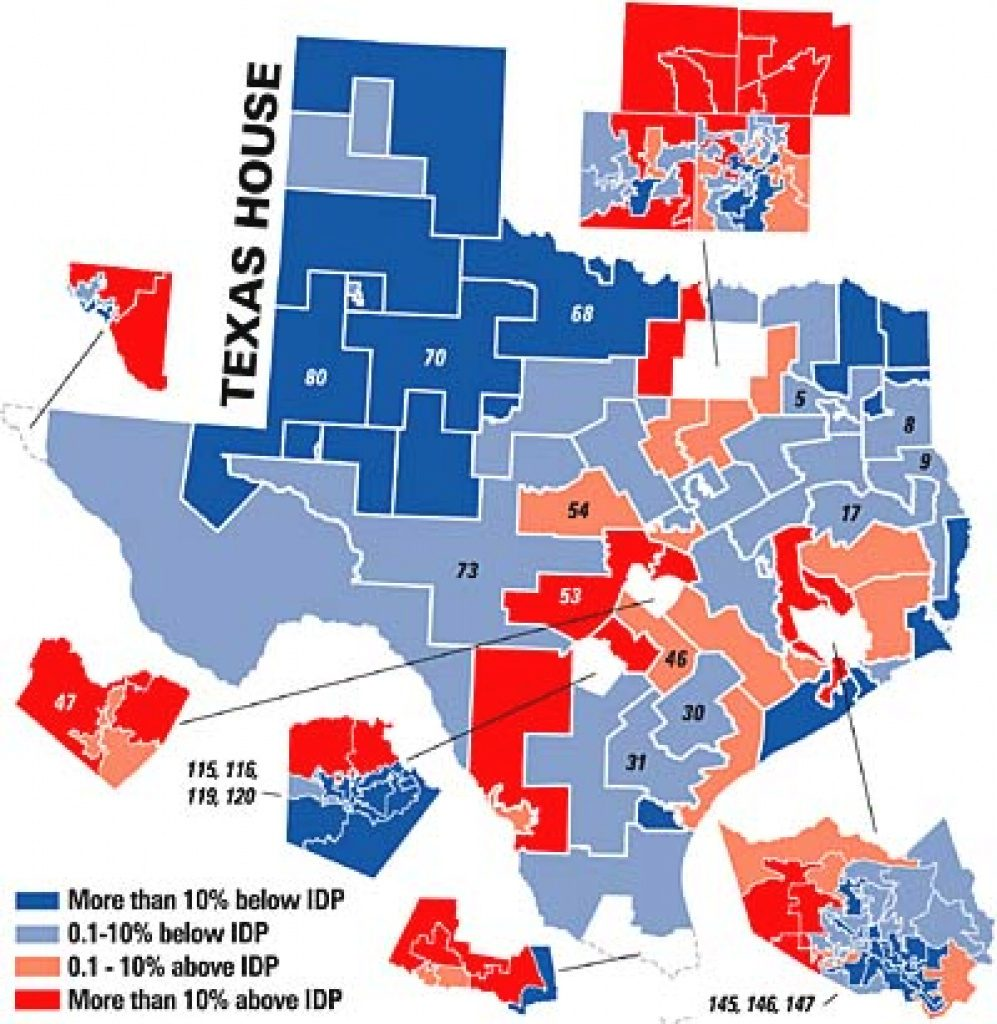 Redistricting 2001: Putting Texas Politics On The Map   News   The Throughout Texas State House Of Representatives District Map