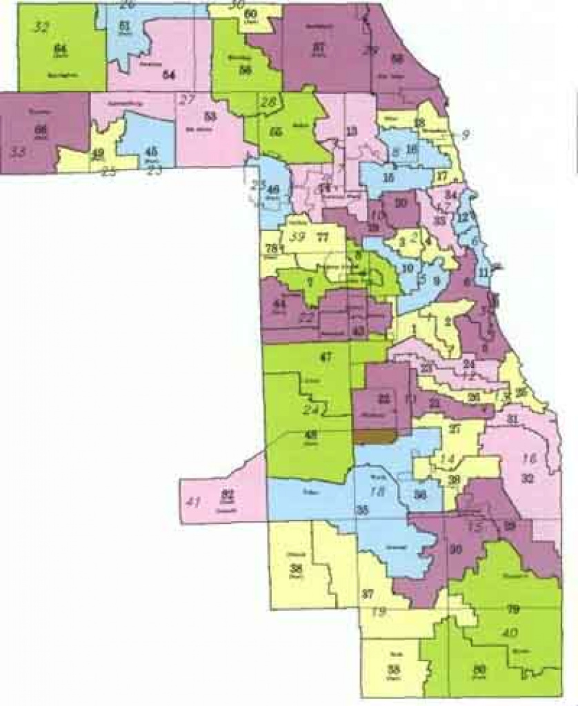 Redistricting '91: The World Series Of Illinois Politics inside Illinois State Representative District Map