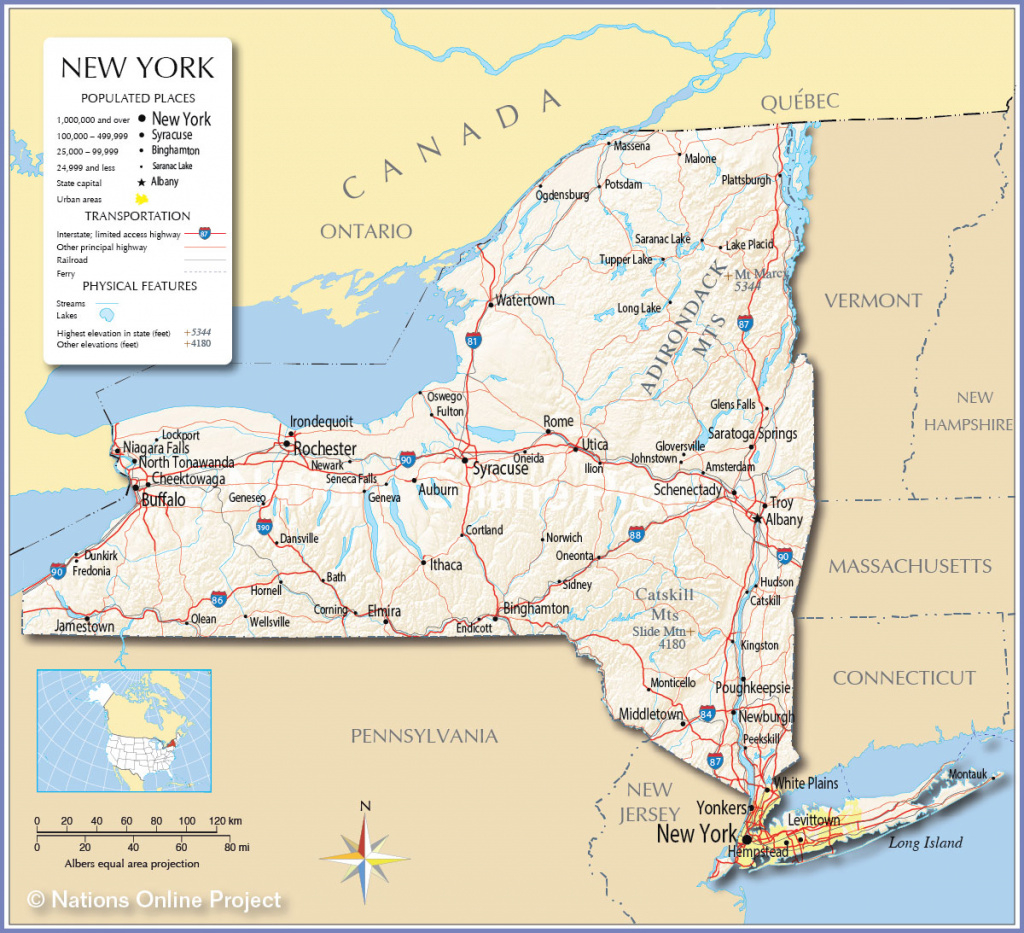Reference Map Of The State New York Usa Nations Online Project in New York State Map Image