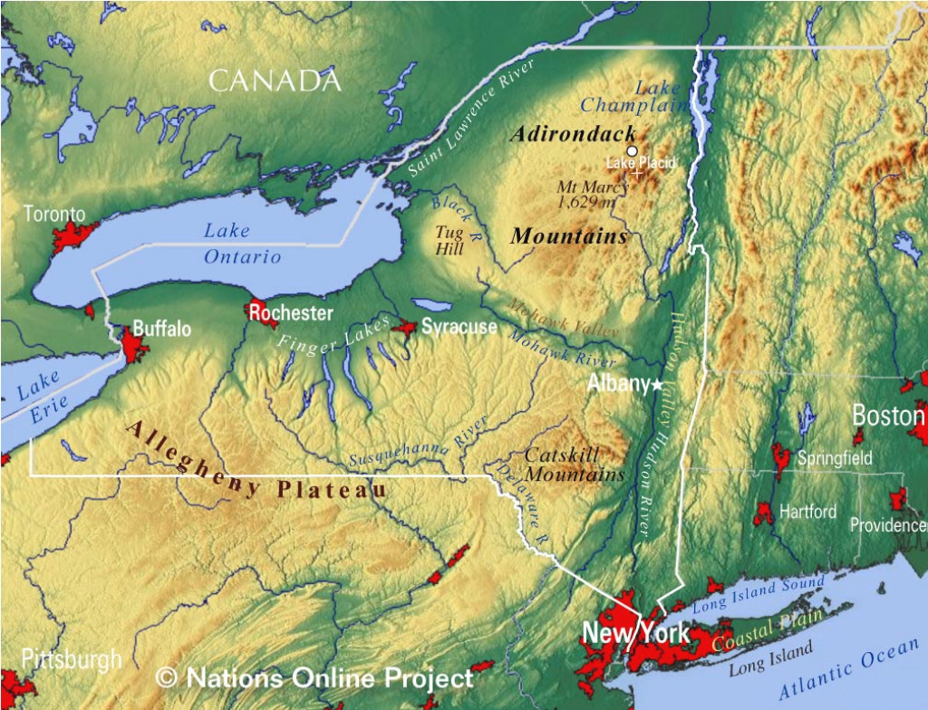 Reference Maps Of The State Of New York, Usa - Nations Online Project in New York State Atlas Map