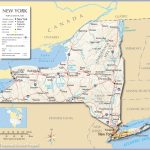 Reference Maps Of The State Of New York, Usa   Nations Online Project Intended For New York State Map With Cities And Towns