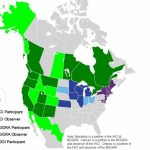 Regional Climate Initiatives In The United States And Canada | World Inside United States Canada Map