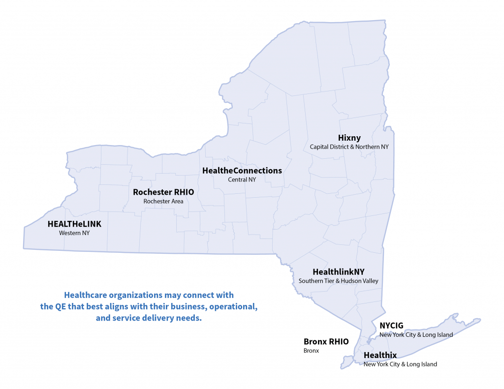 Regional Health Information Organizations (Rhios) - New York Chapter in Map Of Northern Ny State