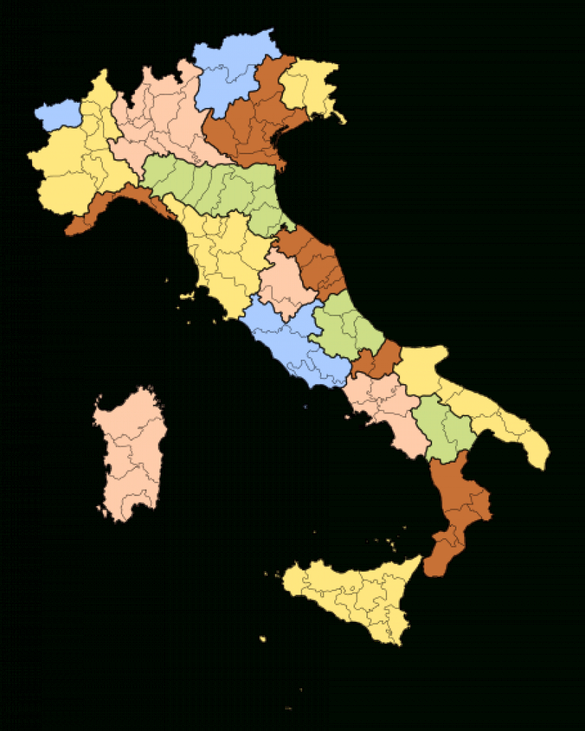 Regions Of Italy - Wikipedia within Italian States Map