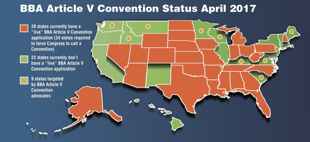 Republic Broadcasting Network » Bba Con Con Status Map As Of March 2017 Pertaining To Convention Of States Map