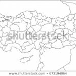 Republic Turkey Map State Lines Stock Illustration   Royalty Free Throughout State Lines Map