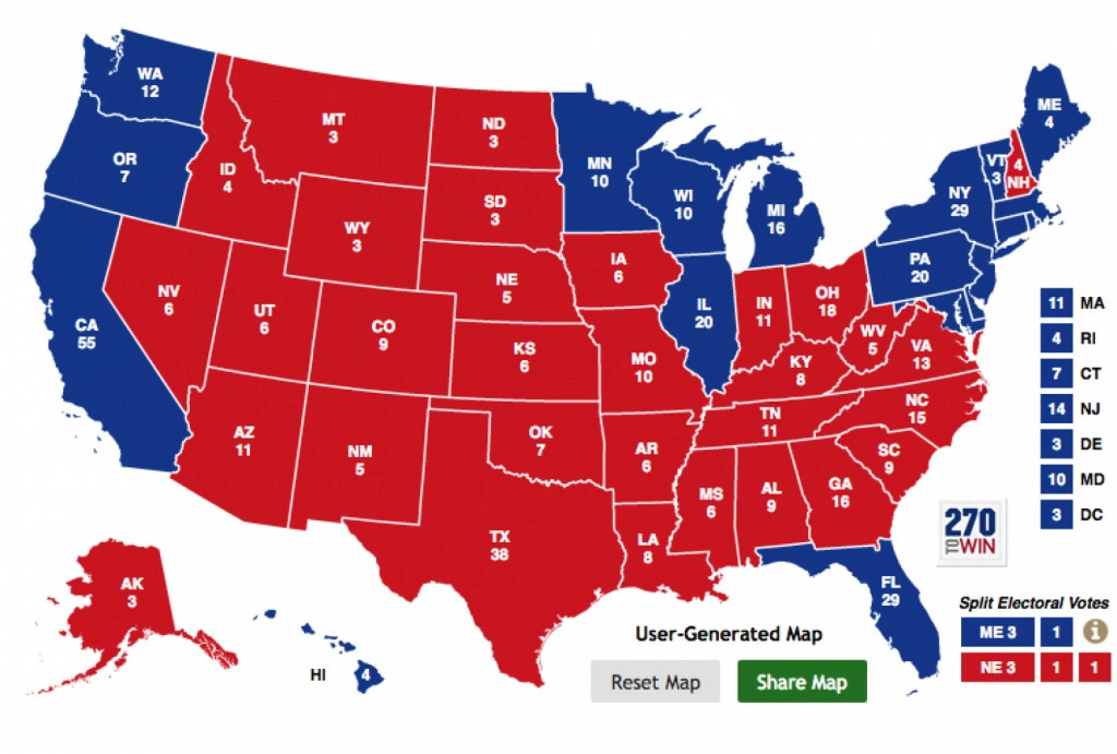 Republicans Have A Massive Electoral Map Problem That Has Nothing To regarding Map Of States Trump Won