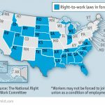 Republicans V Unions   Organised Labour And The Law With Map Of Right To Work States