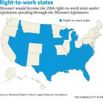 Right To Work In Missouri: Questions And Answers | The Kansas City Star In Map Of Right To Work States