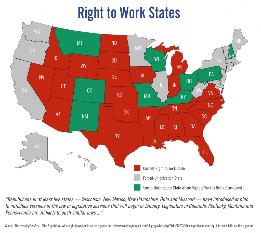 Right To Work Is Right For Wisconsin | Wmc throughout Map Of Right To Work States